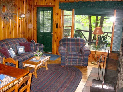 Algonquin Cottage adirondack living room