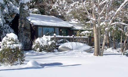 Algonquin Cottage Winter - Harbor Hill at Saranac Lake