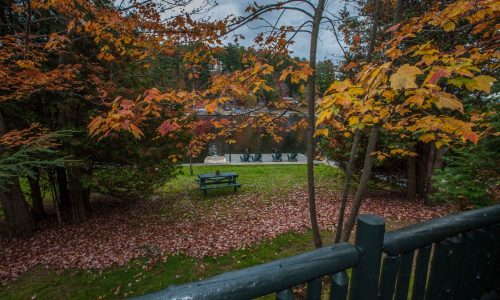 Noonmark Cottage Fall Deck - Harbor Hill at Saranac Lake