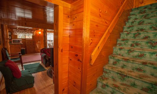 McKenzie Cottage Stairs - Harbor Hill at Saranac Lake