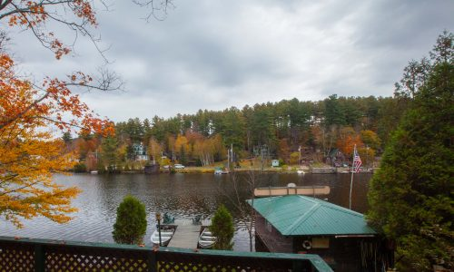 McKenzie Cottage Deck - Harbor Hill at Saranac Lake