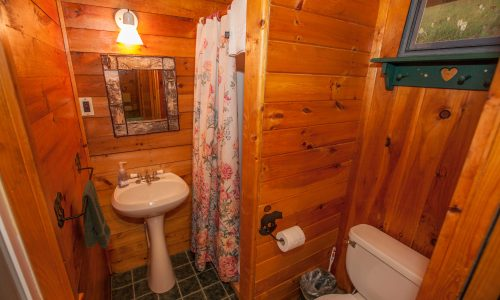 McKenzie Cottage Bathroom - Harbor Hill at Saranac Lake