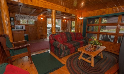 McKenzie Cottage Livingroom - Harbor Hill at Saranac Lake