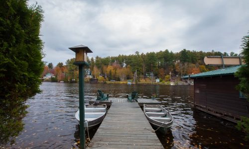 McKenzie Cottage Lake Dock - Harbor Hill at Saranac Lake